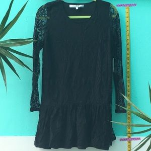 Lovers + Friends black lace overlay minidress sz S